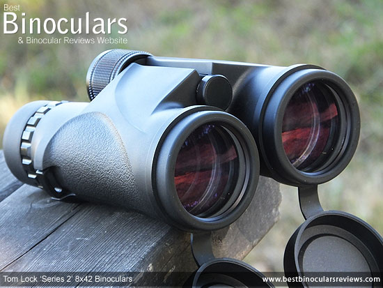 42mm Objective Lenses on the Tom Lock Series 2 8x42 Binoculars