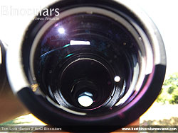 Looking into the Objective Lens on the Tom Lock Series 2 8x42 Binoculars