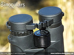 Rain Guard on the Tom Lock Series 2 8x42 Binoculars