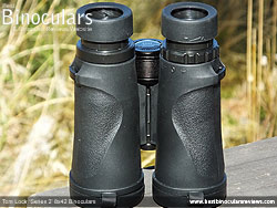 Underside of the Tom Lock Series 2 8x42 Binoculars