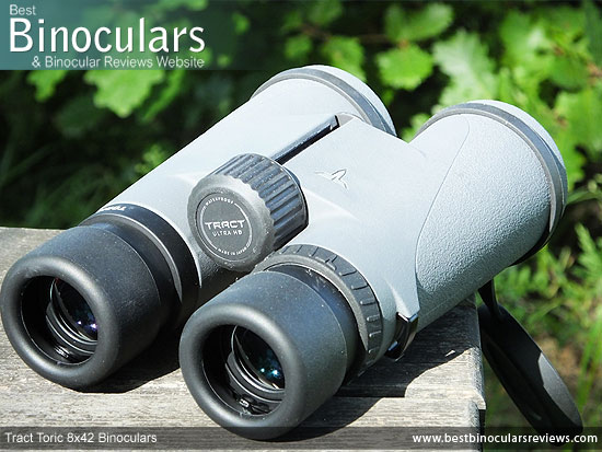 Focus Wheel on the Tract Toric 8x42 Binoculars