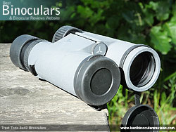 Objective Lens Covers on the Tract Toric 8x42 Binoculars