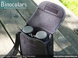 Field bag with handle for the Upland Optics Perception HD 10x42 Binoculars