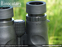 Diopter Adjustment on the Upland Optics Perception HD 10x42 Binoculars