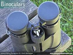 Rainguard on the Upland Optics Perception HD 10x42 Binoculars