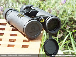 Lens Covers on the Vanguard Endeavor ED II Binoculars