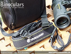 Neck strap on the Vanguard Endeavor ED II Binoculars