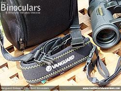 Neck strap on the Vanguard Endeavor ED II Binoculars