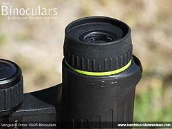 Eyecups on the Vanguard Orros 10x25 Binoculars