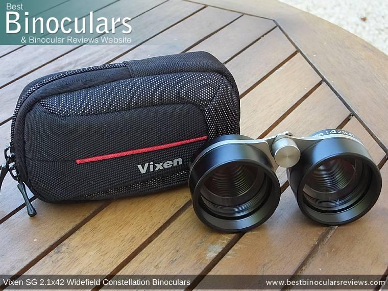 The Vixen SG 2.1x42 Binoculars & Carry Case