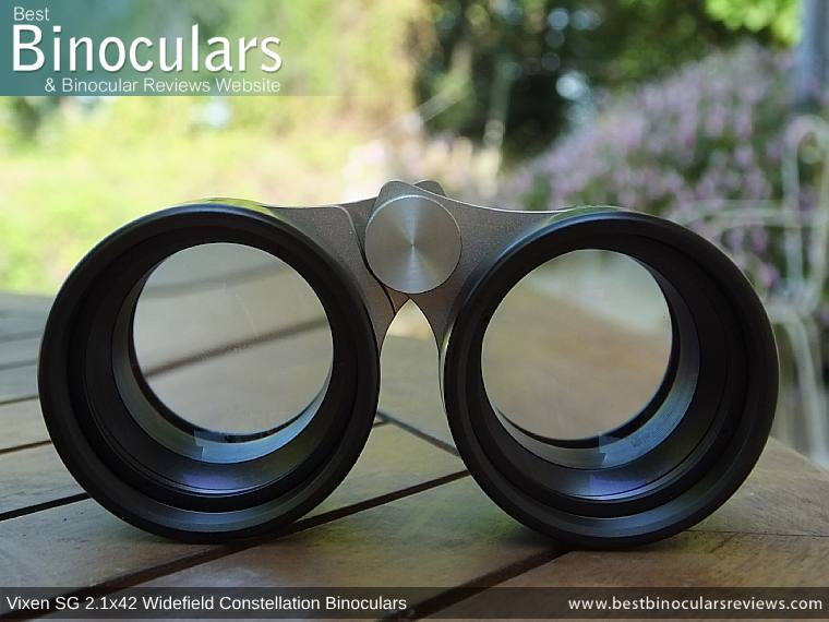 42mm Objective Lenses on the Vixen SG 2.1x42 Binoculars