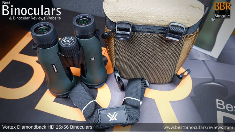 Vortex GlassPak Binocular Harness included with the Vortex Diamondback HD 15x56 Binoculars