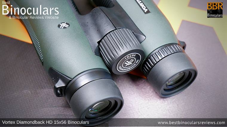 Focus Wheel on the Vortex Diamondback HD 15x56 Binoculars