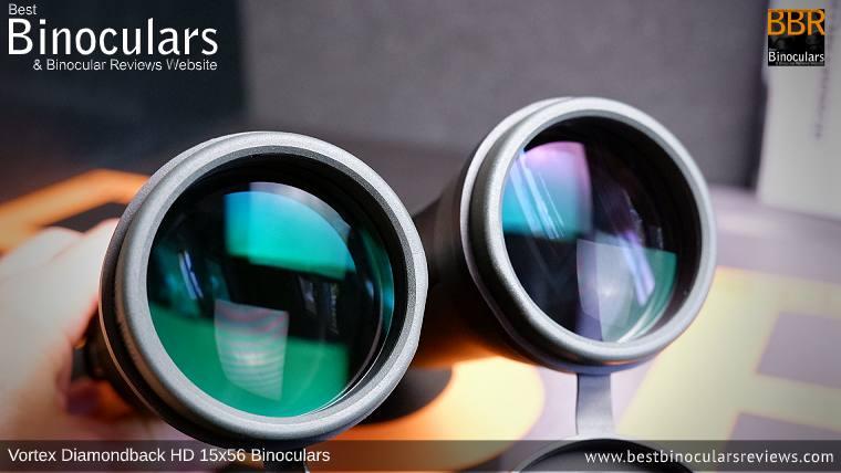 56mm Objective Lenses on the Vortex Diamondback HD 15x56 Binoculars