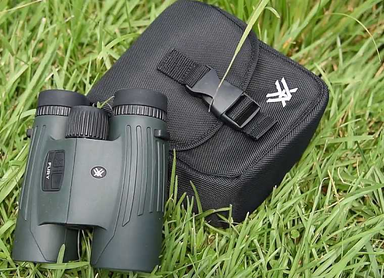 Vortex Carry Case & Fury HD Rangefinder Binoculars