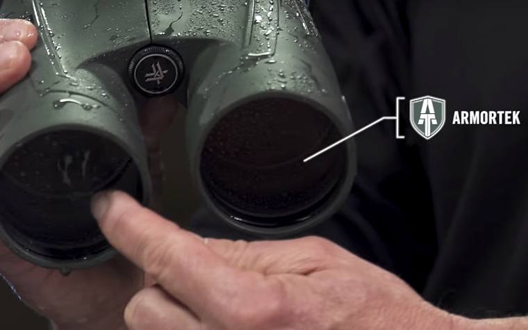 Tough Armortek coatings the Vortex Kaibab HD 18x56 Binoculars