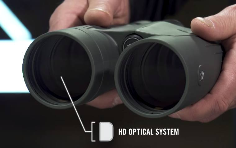 HD Optical System and large 56mm lenses on the Vortex Kaibab HD 18x56 Binoculars
