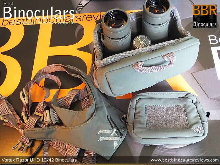 Inside the Vortex Razor UHD 10x42 Binoculars Carry Case