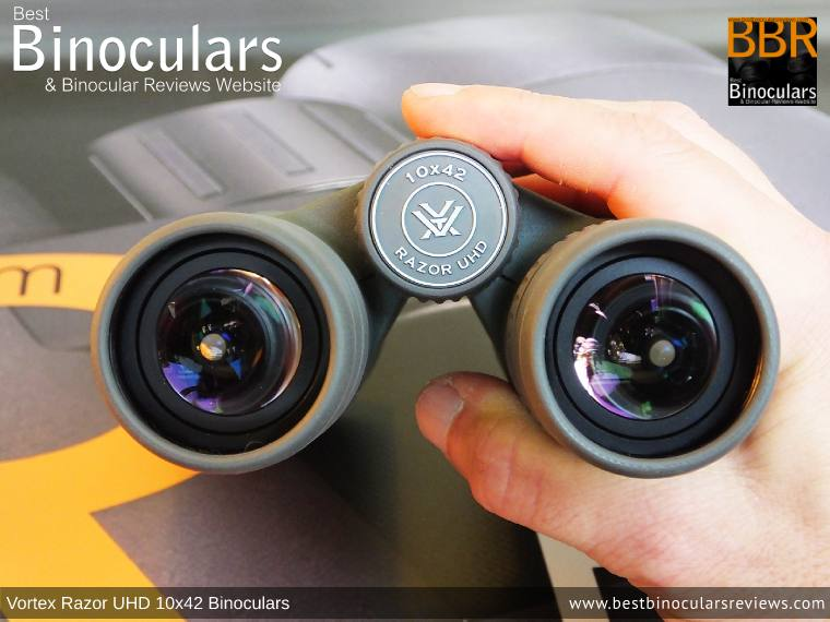Focus Wheel on the Vortex Razor UHD 10x42 Binoculars