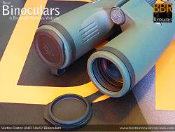 Objective Lens Covers on the Vortex Razor UHD 10x42 Binoculars