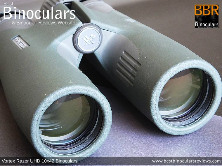 42mm Objective Lenses on the Vortex Razor UHD 10x42 Binoculars