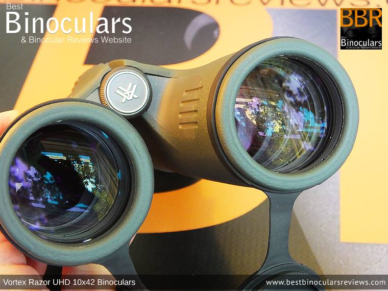 Reverse view through the Vortex Razor UHD 10x42 Binoculars