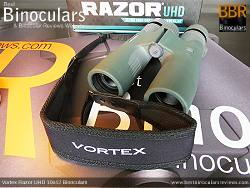 Neck Strap included with the Vortex Razor UHD 10x42 Binoculars