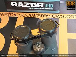 Rain Guard on the Vortex Razor UHD 10x42 Binoculars