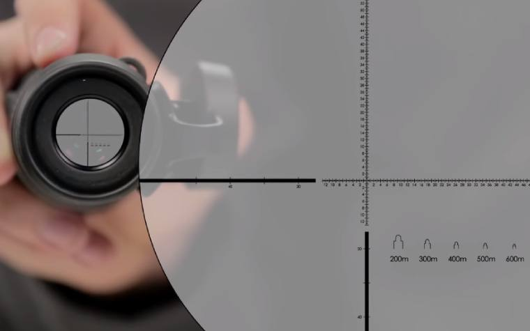 MRAD Milling Reticle on the Vortex Recce Pro HD Monocular 8x32