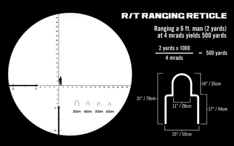 MRAD Milling Reticle on the Vortex Recon RT Monocular 15x50