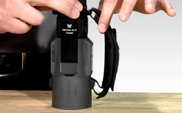 Hand Strap on the Vortex Recon RT 15x50 Monocular
