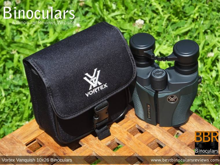 Inside the Vortex Vanquish 10x26 Binoculars Carry Case