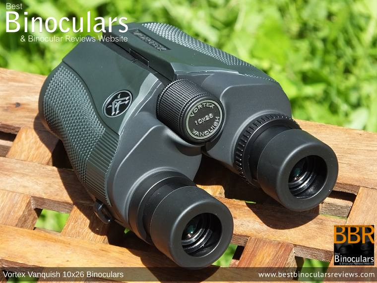 Focus Wheel on the Vortex Vanquish 10x26 Binoculars