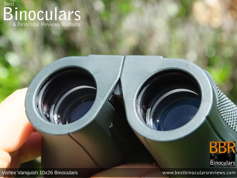 26mm Objective Lenses on the Vortex Vanquish 10x26 Binoculars