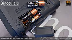 Battery compartment on the WildGuarder NB1 Digital Night Vision Binoculars