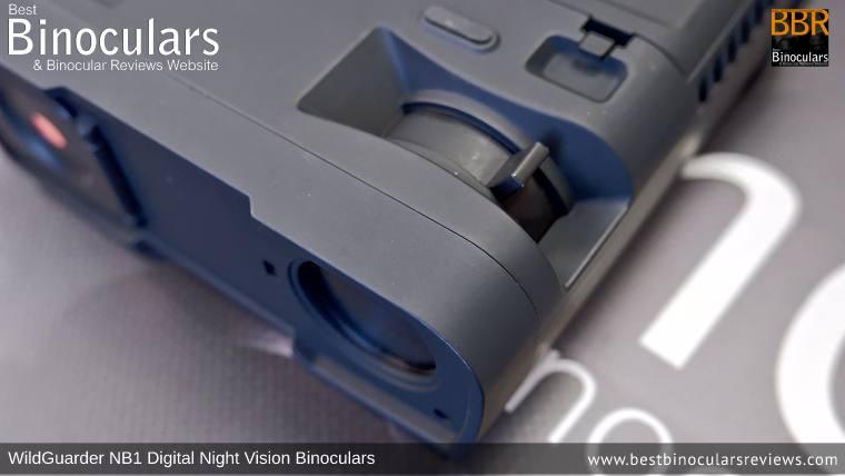 IR Adjustment Lever on the WildGuarder NB1 Digital Night Vision Binoculars