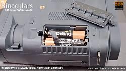 Battery compartment on the Wildgameplus WG500B Digital Night Vision Binoculars
