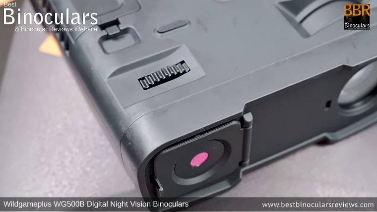 Focus Wheel on the Wildgameplus WG500B Digital Night Vision Binoculars