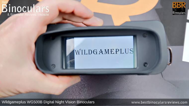 LCD screen on the Steiner Wildlife 10x26 vs Wildgameplus WG500B Digital Night Vision Binoculars