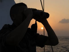 Marine Binoculars at sunset