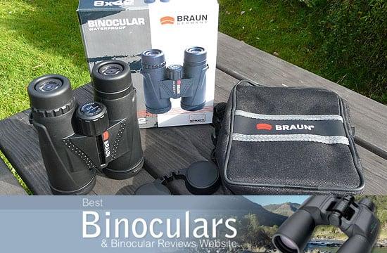 Braun 8x42 WP Binoculars including carry case