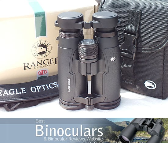 Eagle Optics Ranger ED 8x42 Binoculars with neck strap and carry case