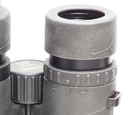 Eye Cup and diopter adjustment ring on the 10x42 Opticron Imagic BGA SE Binoculars