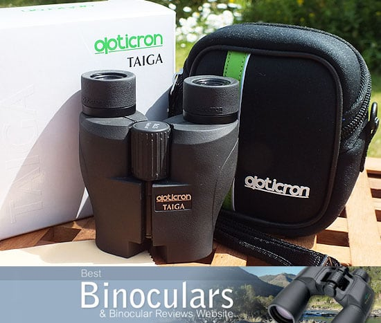 Opticron Taiga 8x25 compact binoculars with carry case and neck strap
