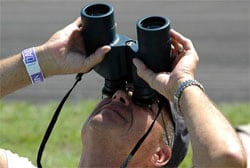 Plane Spotting binoculars at an Airshow