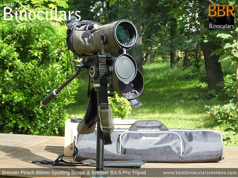 Bresser Pirsch 20-60x80 Spotting Scope, Accessories & Bresser BX-5 Pro tripod