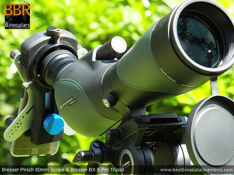 Digiscoping with the Bresser Pirsch 20-60x80 Spotting Scope