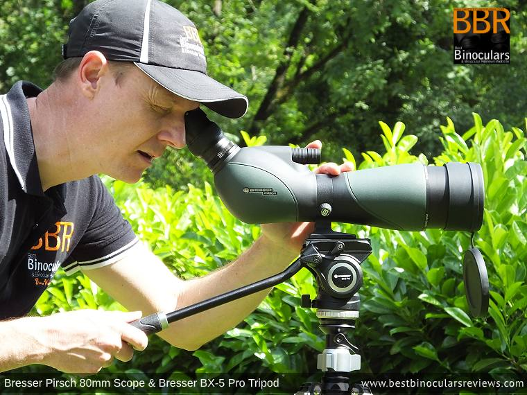 Focusing the Bresser Pirsch 20-60x80 Spotting Scope