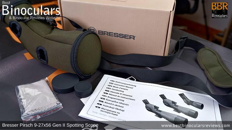 Bresser Pirsch 9-27x56 Gen II Spotting Scope, Accessories & Bresser BX-5 Pro tripod
