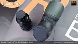 Lens covers on the Removable 9-27x Zoom Eyepiece on the Bresser Pirsch 9-27x56 Gen II Spotting Scope